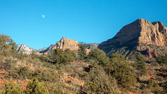 A day moon hovers over Red Rock State Park in Sedona, Arizona. (apardavila) Tags: arizona redrockstatepark sedona afternoon daymoon desert moon