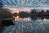 backwater sunrise (bakosgabor57) Tags: sunrise water pier nikon d7200 175528 blue sky orange reeds angling stall landscape nature morning