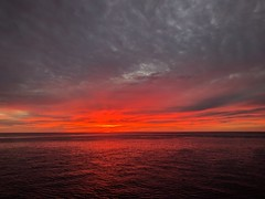 ...an unforgettable ending (Allyndon) Tags: 7dwf outside mexico orange blue cruise sunset ocean waves day leica