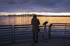 The Girl & The City (Clayton Perry Photoworks) Tags: vancouver bc canada northvancouver explorebc explorecanada dock burrarddrydock skyline abby people night lights
