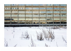 concrete_glass_snow (mathieu.forcier) Tags: concrete snow winter north montreal banal urban geometry geometric simple architecture building street lines emptiness empty