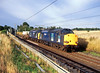 37606+37609 Moore 8th May 2008 (John Eyres) Tags: 3760637609 passing moore with 6k73 sellafield crewe flasks 080508