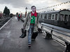 Elves! (Bone Setter) Tags: christmas elf kidderminster costume pointed ears red green severnvalleyrailway platform locomotive