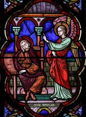 Annunciation to St Joseph (Lawrence OP) Tags: saints lille cathedral angel stjoseph annunciation dream stainedglass