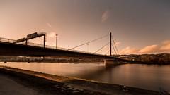 Linz Donaubrücke (georg.kaiblinger) Tags: langzeit linz wasser donau weitwinkel nikon sigma ober oberösterreich nice