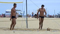 foot-volley in Copabana Beach (alobos life) Tags: footvolley sunga zunga sport futbol ball sand arena garotos boys guys cute nice beautiful water beach playa funny enjoying rio de janeiro brasil brazil have fun outdoors candid brazilian brasileño futevolei 2017