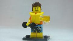 Brick Yourself Custom Lego Figure Guy with Life Vest Dumbbell & Beer