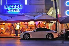 Porsche 911 @ The Beacon Hotel (Infinity & Beyond Photography) Tags: porsche carrera 911 night photography photos oceandrive southbeach miami beach florida exotics cars