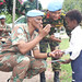 MONUSCO Force Commander, General Derrick Mgwebi interacting with the pupil