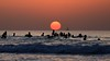 Sunset in Tel-Aviv beach (Lior. L) Tags: sunsetintelavivbeach sunset telaviv beach sailboat israel nature travel silhouettes