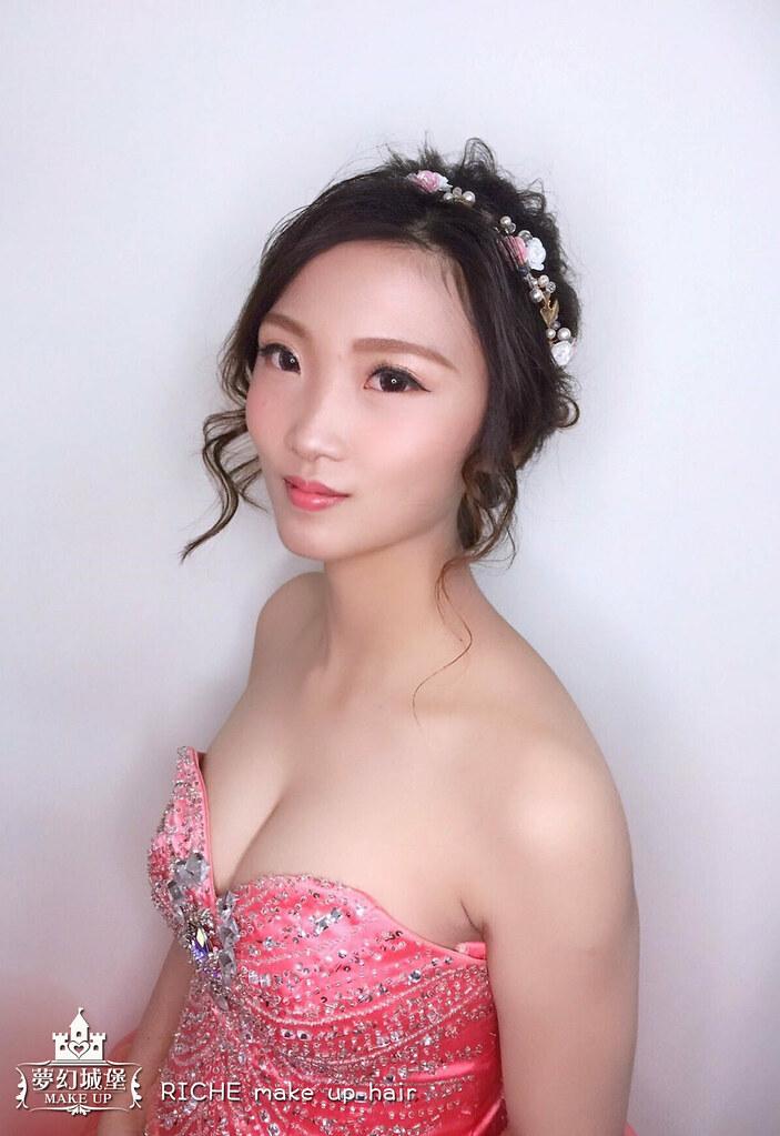 【新秘RICHE】bride彩鈞 訂婚造型 / 台中自宅