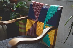 DIY upcycled woven geometric chair (pakovska) Tags: upcycle upcycling woven weaving diy handmade