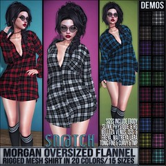 Sn@tch Morgan Oversized Flannel Shirt Vendor Ad LG (Tess-Ivey Deschanel) Tags: snatch sntch secondlife sl sexy second life iveydeschanel ivey ihearts deschanel clothing clubwear clothes costumes casual christmas hot hair holiday winter mesh model meshclothing meshclothes models