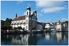 Luzern - Jesuitenkirche (.Robert. Photography) Tags: esglèsia iglesia jesuita sant francesc xavier san francisco javier riu río reuss luzern lucerna suisse switzerland suiza robert