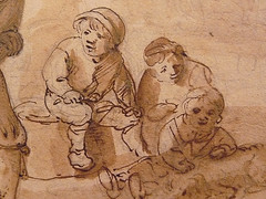 OSTADE Isaac - Fête Paysanne (drawing, dessin, disegno-Custodia) - Detail -w (L'art au présent) Tags: art painter peintre details détail détails detalles painting paintings peintures peinture17e 17thcenturypaintings peinturehollandaise dutchpaintings dutchpainters peintreshollandais tableaux paris fondation foundation france holland hollande animal animaux animals figures personnes man men hommes femme women woman female jeunefemme youngwoman boy littleboy garçon enfant kid kids child children peasantfair party feast paysan dog pet chien isaack