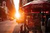 Sunset in Manhattan (Alexander Pellegrin) Tags: sunset atardacer newyork newyorkcity newyorkcitylife newyorker cocacola sabrett hotdog fuji fujixe2s fujifilm 27mm wide alexanderpellegrin streetphotography street photo photography photographeronflickr photographer bigapple bigcityofdreams