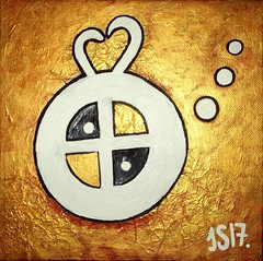 Symbol of Forgiveness by Jacob Sibbern #JS2017 DSCF7810  23.12.2017 (Angel & Jacob) Tags: jacobsibbern drawings drawing drawingart symbol art painting canvas gold spiritual spirituality silver 2017 meditation inspiration meditazione simbolo tela dipinto perdono mercy forgiveness forgive