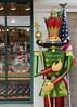 wooden soldier guards the toy store