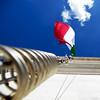 Bandiera (Atreides59) Tags: drapeau italien italian flag italie italy italia rome roma blue bleu ciel sky nuage cloud nuages clouds rouge red blanc white vert green urban urbain up pentax k30 k 30 pentaxart atreides atreides59 cedriclafrance
