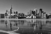 Toronto's reflection (Canadian Pacific) Tags: toronto canada canadian city harbour harbor frozen polar vortex deep freeze weather solid lake water ice icy cold very extremely winter wintry sun sunny 2017aimg7130bw polson street jenniferkaterynakovalskyj park