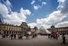 Le Louvre, Paris, France (pas le matin) Tags: people sky sun soleil ciel clouds nuages architecture louvre lelouvre paris france europe europa building pyramid pyramide travel voyage world canon 5d 5dmkiii canon5dmkiii canoneos5dmkiii eos5dmkiii