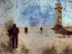 Vague Memory (Bill Eiffert) Tags: lighthouse beach textures people concept