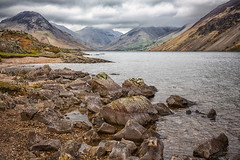 on the rocks (seth2252013) Tags: lakedistrict lake rocks mountains fells water cumbria stormy wasdale
