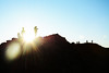 Photography with a Flare (Andrew.King) Tags: flare lens distortion sunlight sun light beam star blue sky clear mountain ridge hill contrast photographer subject people nikon d7100 shadows highlights