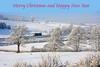 Merry Christmas (whosoever2) Tags: england unitedkingdom uk gb greatbritain nikon d7100 december 2017 railway railroad train christmas card xmas staffordshire snow ice winter frozen freightliner class66 66526 whitmore