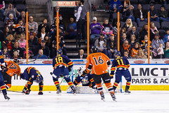 "Kansas City Mavericks vs. Colorado Eagles, December 16, 2017, Silverstein Eye Centers Arena, Independence, Missouri.  Photo: © John Howe / Howe Creative Photography, all rights reserved 2017. • <a style=""font-size:0.8em;"" href=""http://www.flickr.com/photos/134016632@N02/39138071871/"" target=""_blank"">View on Flickr</a>"
