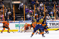 "Kansas City Mavericks vs. Colorado Eagles, December 16, 2017, Silverstein Eye Centers Arena, Independence, Missouri.  Photo: © John Howe / Howe Creative Photography, all rights reserved 2017. • <a style=""font-size:0.8em;"" href=""http://www.flickr.com/photos/134016632@N02/39138139651/"" target=""_blank"">View on Flickr</a>"