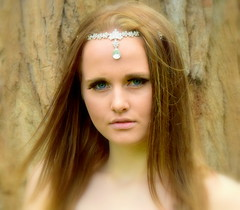 Chrystals. (pstone646) Tags: youngwoman younglady portrait pretty people longhair beauty outdoors softfocus blueeyes