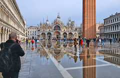 perfect moment (poludziber1) Tags: venice venezia street streetphotography skyline sky city colorful cityscape color colorfull clouds urban travel people italia italy church reflection fotocompetition fotocompetitionbronze