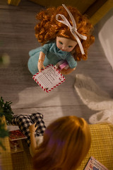 letter to Santa (kinmegami) Tags: doll chelseadoll kelly christmastree christmas miniature rement roombox diorama obitsu picconeemo hybrid 16