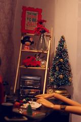 Handmade gifts. Polymer clay (kinmegami) Tags: barbie rement diorama roombox polymerclay miniature handmade christmastree christmas cuteourhome