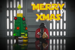 XMAS (bs1ffm) Tags: studio spielzeug starwars toys toyphotography tabletopphotography ttl toy toyphotographie darth digitalpainting darthvader xmas xmastree flickr new figures lego legography fun