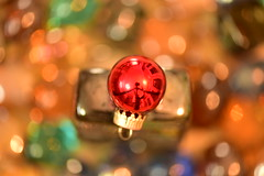 Merry Christmas _  Bokeh (Zahidur Rahman ( Will be back soon )) Tags: merry christmas nikon105mmmacro merrychristmas nikond810 bokeh tiny macro red blur balls vivid greetings details green blue colors thread tripod movement macromonday centre glass stone
