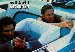 Philip Michael Thomas and Don Johnson in Miami Vice (1984-1990) (Truus, Bob & Jan too!) Tags: miamivice donjohnson don johnson philipmichaelthomas philip michael thomas american us tv television show series 1980s eighties actor acteur filmstar cinema film kino cine movie movies picture screen filmster star vintage postcard carte postale cartolina tarjet postal postkarte postkaart briefkarte briefkaart ansichtskarte ansichtkaart glamour allure gun car pastel