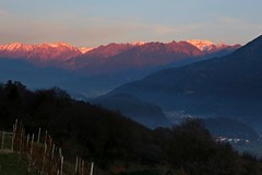 It's coming evening (annalisabianchetti) Tags: evening sera buio dark mountains montagne vallecamonica italy paesaggio landscape sunset tramonto