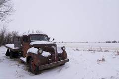 Winter parking (Len Langevin) Tags: abandoned old vehicle car truck rusty derelict rustbucket forgotten winter alberta canada nikon d7100 tokina 1224