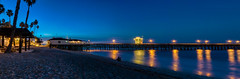 Dawn's Early Light (tquist24) Tags: california hdr nikon nikond5300 pacificocean sanclemente sanclementepier beach dawn geotagged longexposure ocean palmtree palmtrees panorama panoramic pier reflection reflections sky sunrise water unitedstates bluehour