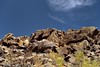 A Hillside Display of Petroglyphs and Prehistoric Rock Art at Signal Hill (Saguaro National Park) (thor_mark ) Tags: blueskieswithclouds boulders capturenx2edited colorefexpro day3 desert desertlandscape desertplantlife intermountainwest landscape largerocks lookingnorth nature nikond800e northsonorandesertranges outside petroglyphs prehistoricrockart project365 saguaronationalpark saguaronationalparktucsonmountaindistrictwest signalhill sonorandesert southwestbasinsandranges sunny tucsonmountains westtucsonnogalesarea arizona unitedstates