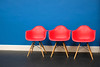 200 of year 4 - Red on blue (Hi, I'm Tim Large) Tags: red orange chair seat blue azure wall paint painted bright three 3 fuji fujifilm xf xpro2 35mm f14 timothylarge timlarge tacraftphotography tacrafts 365 day everyday