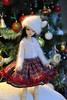 DSC_0976 (Maguynel ✿) Tags: latelierdemaguynel doll chateau bella mohair blanc noel rouge jupe écossais vert foret bonnet pompon