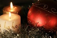 Ho Ho (Cindy's Here) Tags: hoho candles flames ornament ball christmas holiday canon macro ansh scavenger13