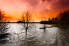 Flooding in Bedfordshire (drjacquebaxter) Tags: countryside nature climatechange weather floods newyear2017 bedfordshire bedford harrold countrypark water trees sky sunset storm stormchaser river greatouse jacquelinebphotografiecouk jacquelinebaxter