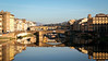 Florence Italy (roughtimes) Tags: 201710156637 copy1 florence italy firenze arno river st trinity bridge ponte vecchio mirror image blue sky crystal waters smooth reflection
