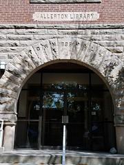 M Community Building Main Door , 201 N State St, Monticello, IL 20170824 (RLWisegarver) Tags: piatt county history monticello illinois usa il