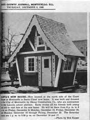 New Santa House for Monticello, IL - 1966-12-08 (RLWisegarver) Tags: piatt county history monticello illinois usa il