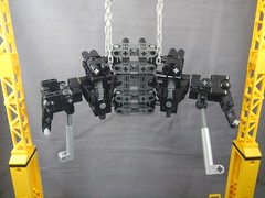 Geared hips/shoulder frame front (donuts_ftw) Tags: lego mecha frame wip technic